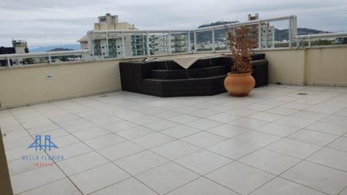 Cobertura Com 3 Dormitórios À Venda, 220 M² Por R$ 1.699.000,00 - Itacorubi - Florianópolis/sc - Co0212