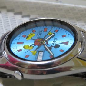 Relógio Antigo Seiko Mickey Mouse Azul