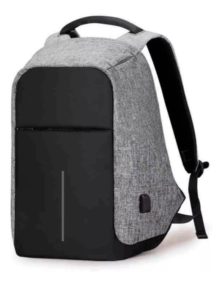 Mochila Antirrobo Carga Usb Smart Notebook Tablet Celular