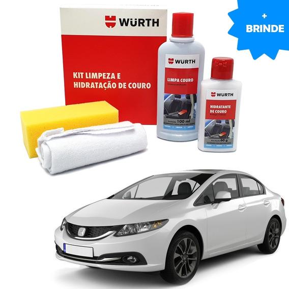 Kit Limpeza Hidratação Banco Couro Wu Honda Civic Sedan 2015