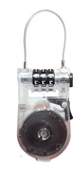 Candado Cable Acero 90 Cm Con Combinacion Reforzado Ramos