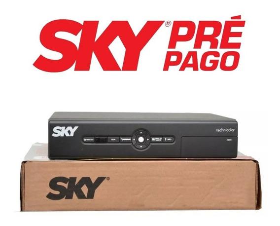 Sky Prépago Sd Rec 12 Meses Digitais 49 Canais Sh12 + Recarga