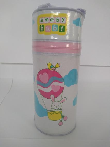 Protetor Térmico Simples Estampa Coelho E Balão Branco/rosa