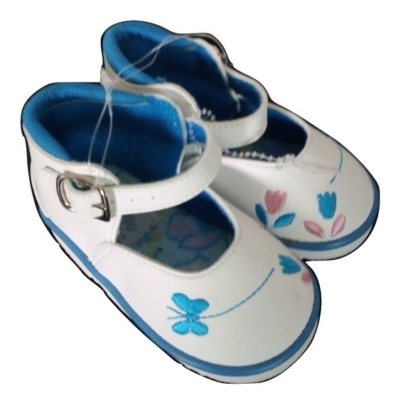 Zapato Blanco Niña Alpargatas Suaves Bordados Zapatitos Primeros Pasos Caminar Bebe # 12 Liquidacion $390a