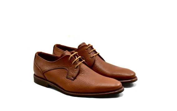 Zapato Marrón De Cuero Para Hombre 3280-s
