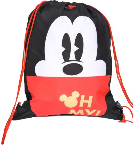 Bolsa Saco Alça Cordao Mickey Mouse 90 Years 51928 Original