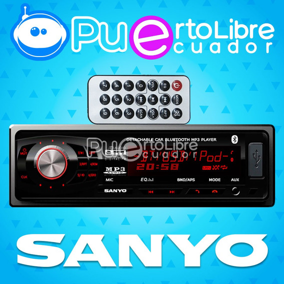 = Sanyo = Radio De Auto Usb Sd Fm Bluetooth Mp3 + Microfono