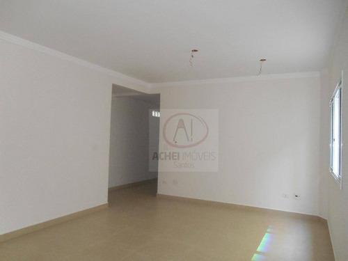 Imagem 1 de 30 de Casa Com 3 Dormitórios Sendo 3 Suítes, 2 Vagas, 170 M² - Venda Por R$ 900.000 Ou Aluguel Por R$ 6.500/mês - Campo Grande - Santos/sp - Ca1273