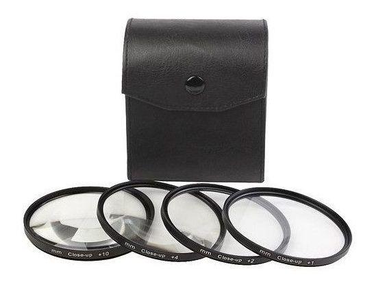 Kit Lente Filtro P/ Macro Fotografia +1 +2 +4 +10 De 52mm