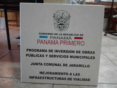 Placas Gobierno Arquitectos Obras Marmolina Eucraftsa