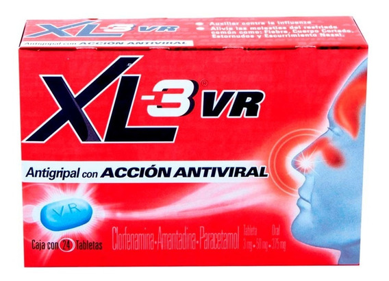 Xl-3 Vr Antigripal Antiviral Caja 24 Tabletas Genomma Lab