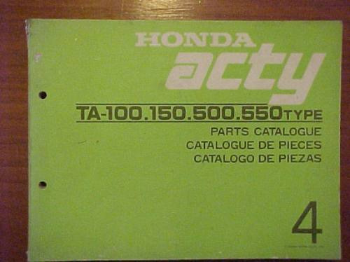 Manual Honda Acty Decada Del ´80