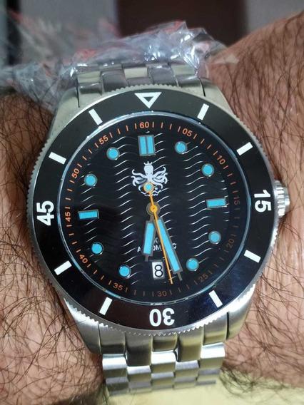 Relógio Diver Automático Phoibos (deep Helson Seiko Orient)