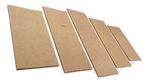 Imagem 1 de 2 de Chapa Mdf 3mm 05 Kits Mosaico  De 5 Peças Cada