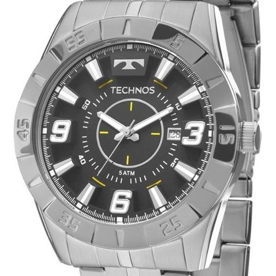 Relógio Masculino Technos Prata Grande Garantia Original