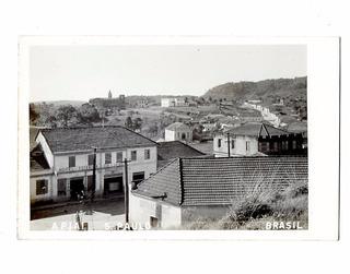 Cartao Postal Fotografico Apiai - Sp Hotel Teixeira Anos 40