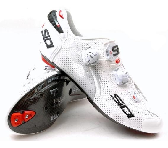 Sapatilha Sidi Wire Air Vent Carbon Push Shoes | Size 44,5eu