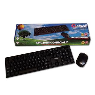Combo Teclado Y Mouse Inalámbrico Negro Smart Pc Notebook