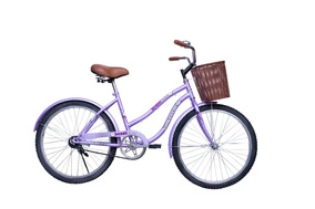 Bicicleta Vintage Cruiser Rodada 24 Con Canasta Hot Sale