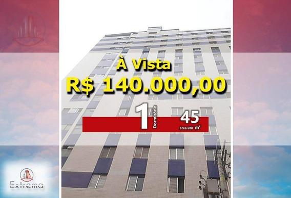 Apartamento Com 1 Dormitório À Venda, 45 M² Por R$ 140.000 - Ocian - Praia Grande/sp - Ap1151