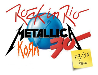 Ingresso Rock In Rio 2015 - 19/09 - Metallica (inteira)
