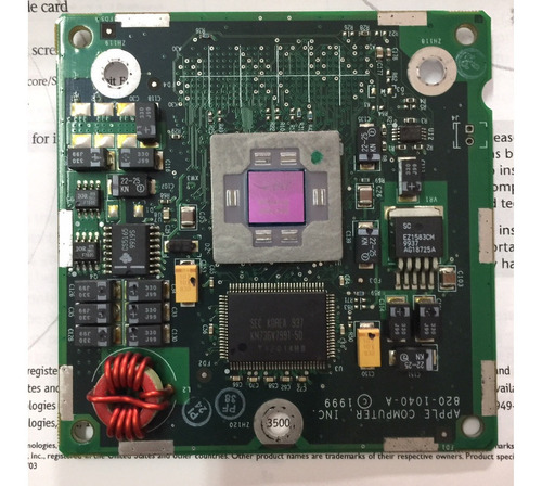 Apple Proc Mod Power Mac G4 350mhz Agp 820-1040a 661-2278