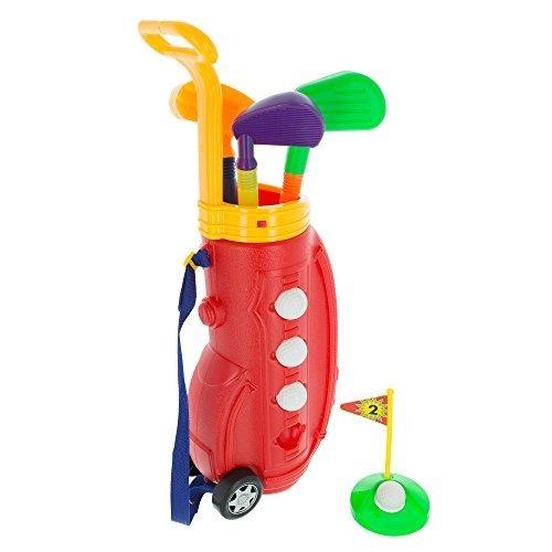 Toddler Toy Golf Juego De Juego Con Bolsa De Plástico, 2 Pal
