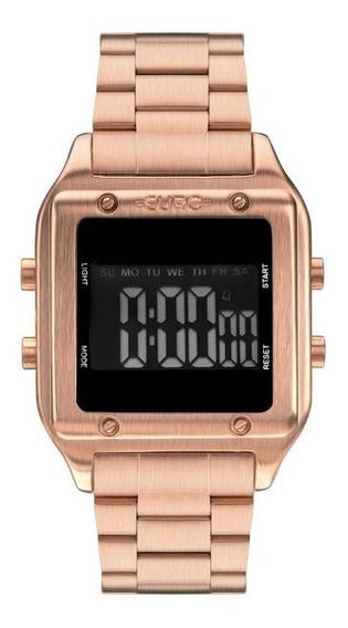 Relógio Feminino Euro Digital Rose Quadrado Eug2510ad/4j