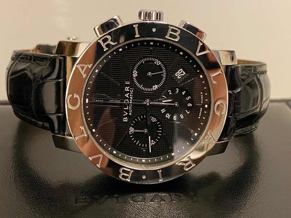 Relógio Bvlgari Bb42 Aço 42mm Ref. Bb42slch Completo.