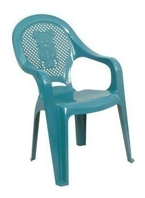 Poltrona Plástica Infantil Azul Decorada 28124