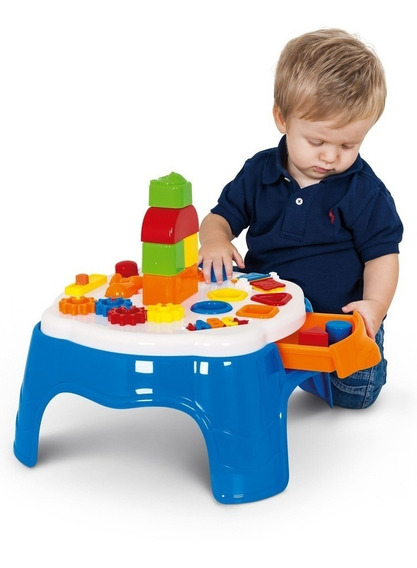 Mesinha Mesa De Atividades Play Time - Azul - Cotiplás