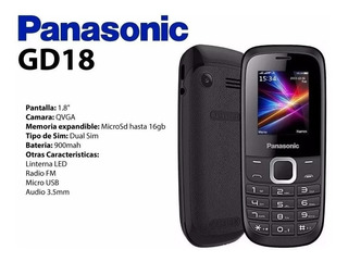 Celular Panasonic Gd18 2 Chips Fm/music/vídeo Play/lanterna