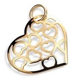 Pingente Corações Vazados Rommanel 541163