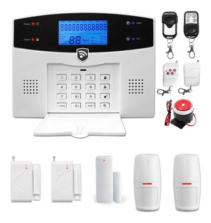Kit 9 Alarma Gsm Celular Dual Inalambrica Vecinal Seguridad Casa Sistema Sensores Defensa Alerta Control Via App Negocio