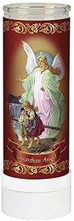 Vela Led Sin Llama Devotional Guardian Angel De Oración Eléc
