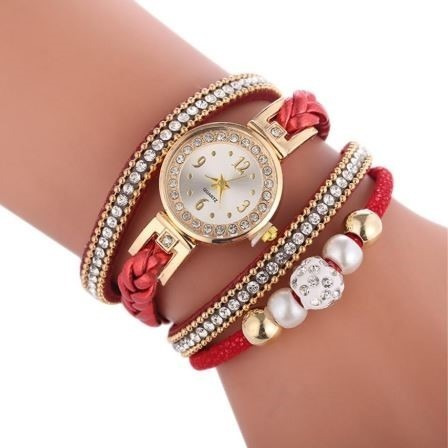 Relógio Feminino Watch Bracelete Pulseira Pingente Luxo