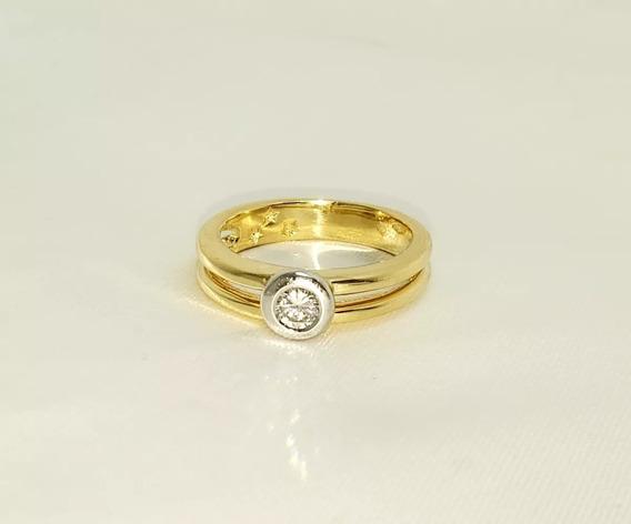 H Stern Anel Em Ouro Amarelo 18k E Diamante Coleção Nina