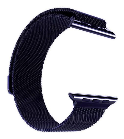 Pulseira Milanese Para Apple Watch Iwo 8 E Iwo 9 38mm 40mm 42mm 44mm Em Aço Inoxidável