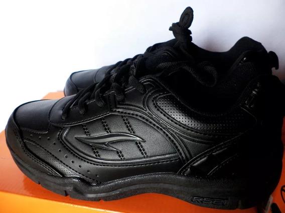 Oferta Zapatos Deportivos Escolares Negros Rs21 Talla 36-38