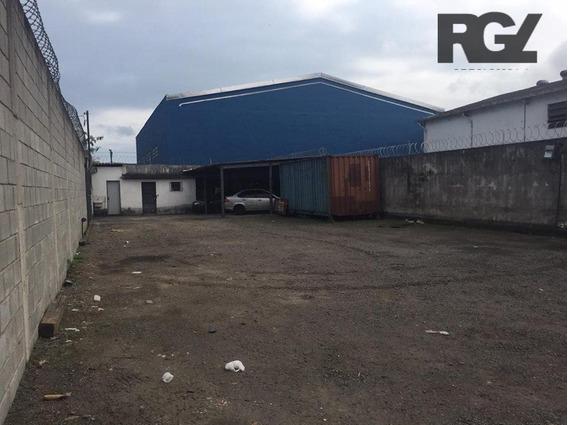 Terreno Comercial Para Locação, Estuário, Santos. - Te0063