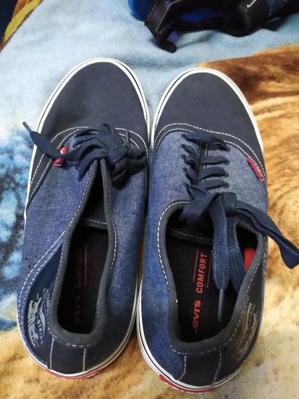 Tenis Originales Levi S Número 7 Color Azul Americanos