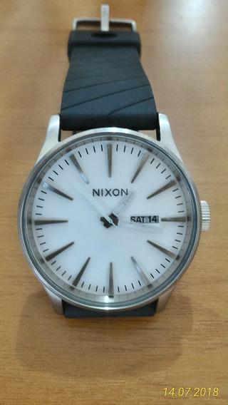 Relógio Nixon Sentry Unissex Novo Original Aço/pu
