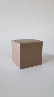 Estuche Cubo 8x8x8 Cm Papel Kraft Souvenir Regalos Pack X 20
