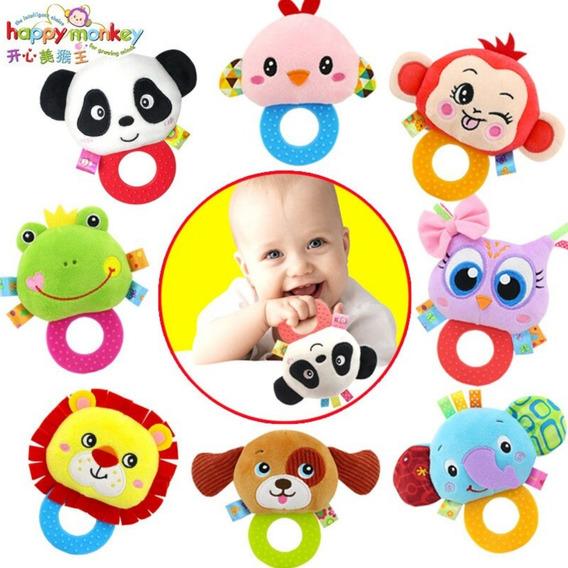 Chocalho Mordedor De Pelucia Brinquedo Educativo Para Bebê