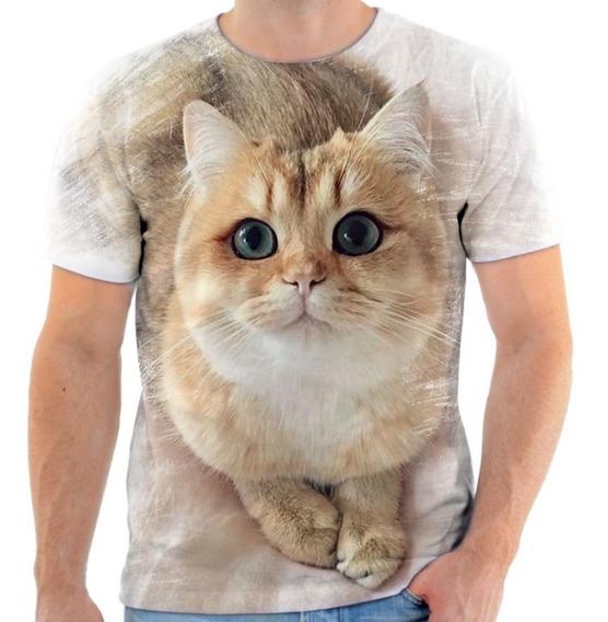 Camisa Camiseta Animal Gato Felino Fofo Gata Cat Miau Tumblr