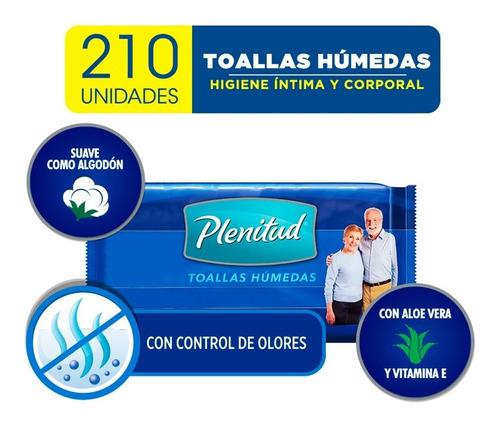 Toallas Humedas Para Adultos Plenitud X 42 Unidades Pack X 5