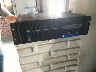 Potencia Amplificador Sonido Mt1400 Watts Gtia Envío Tarj!