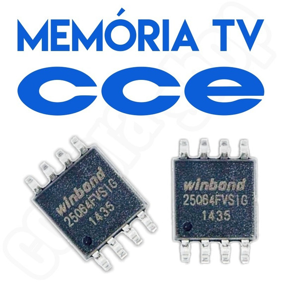 Memoria Flash Tv Cce C390 Led U8 Kit 3x Peças
