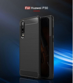 Protector Case Fibra De Carbono Antishock Huawei P30 Pro P30