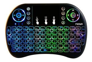 Mini Teclado Inalambrico Mouse Smart Tv Ps3 Pc Noga Nkb-k2r